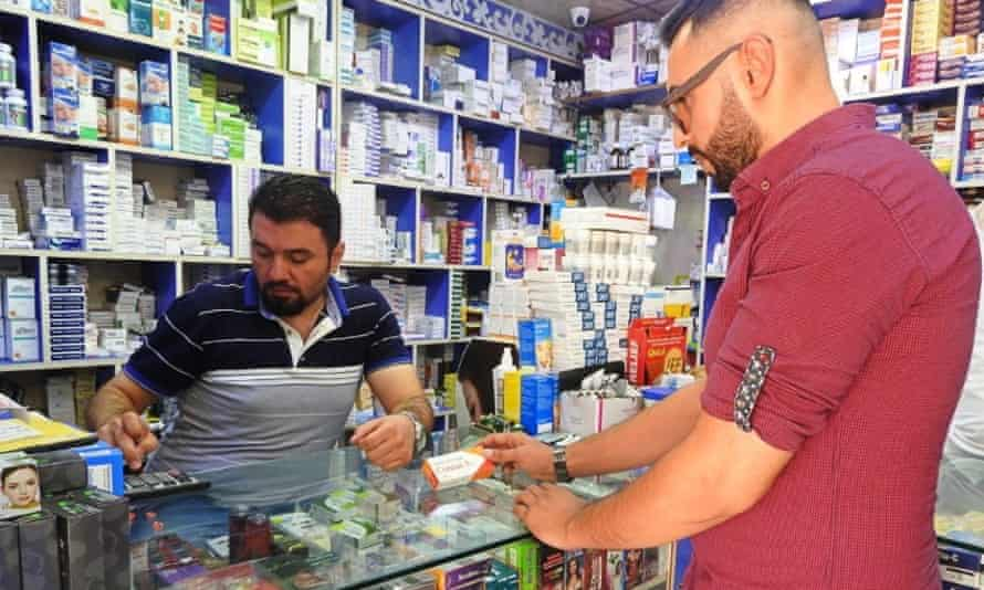 The app links patients to a network of 200 pharmacies in Mosul.