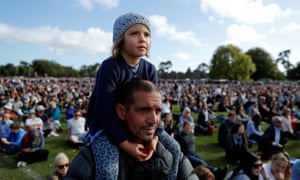 Thousands of people gathered at Hagley Park near Al Noor mosque, where the shooting took place.
