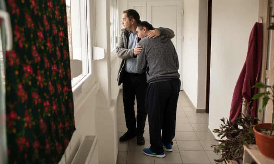 Centre director Ladislav Lamza with 36-year-old Luka Bobanovic.