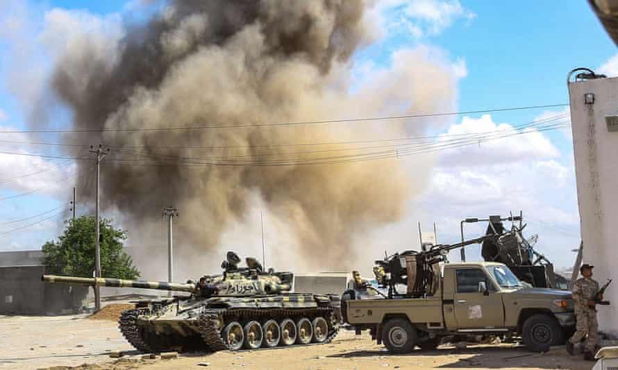 An airstrike near Tripoli.