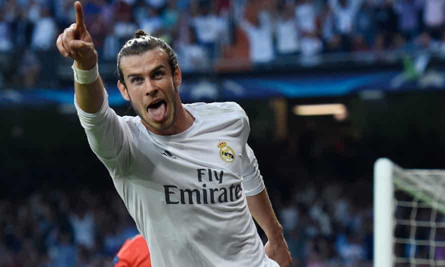 Gareth Bale celebrates the only goal of the tie as Real Madrid saw off Manchester City.