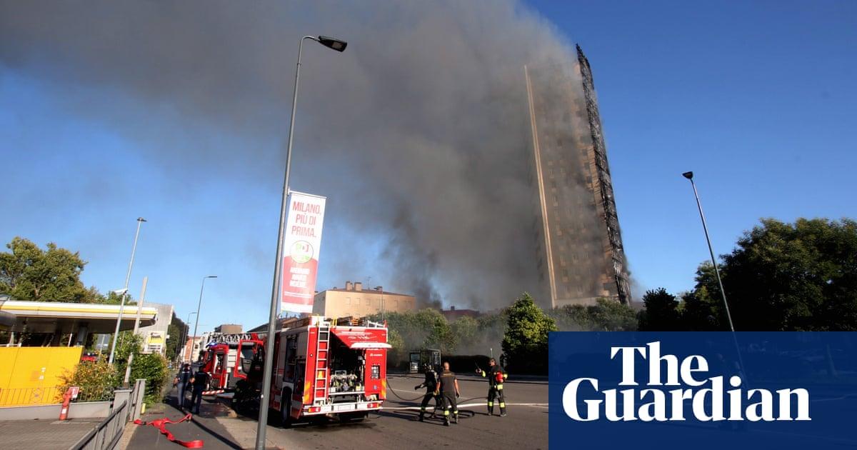 Fire rips through 20-storey residential tower block in Milan
