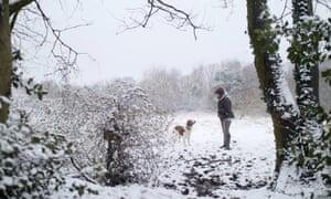Moorside Fields in winter.