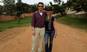 Nick Louvel and Michelle Mitchell in Kigali during our final shoot of principle photography in May 2014