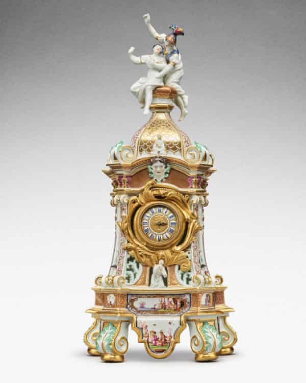 A Meissen mantel clock case included in the auction