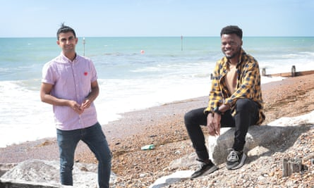 Naqeeb, left, and Percy in Worthing.