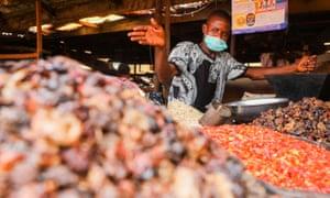 A market trader in Lagos, Nigeria