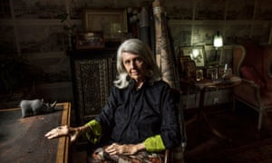 Conservationist and author Kuki Gallmann poses for a portrait inside her Nairobi home approximately one month after being shot by armed men on her ranch in Laikipia County, Kenya