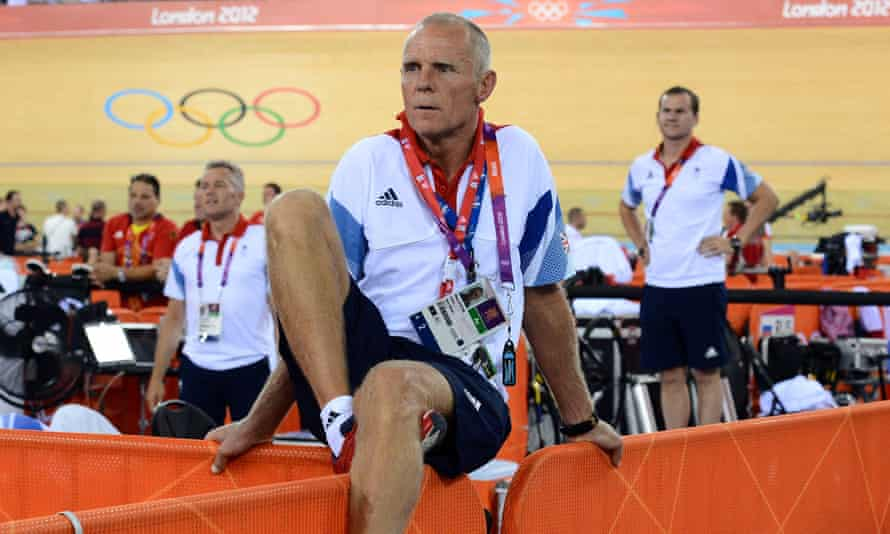 Shane Sutton pictured at the London 2012 Olympics. Richard Freeman says he was 'terrified' of the former British Cycling head coach.