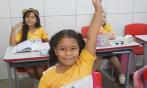 Sobal child raising her hand