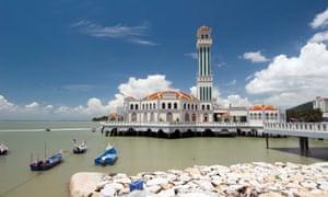 Floating Mosque at Tanjung Bungah near Batu Ferringhi, Penang, Malaysia.