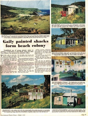 In the post-war era, Sydneysiders took to the national park with a new spirit of leisure. This feature on the shacks in the Australian Women's Weekly, shows the 'colony' in full swing