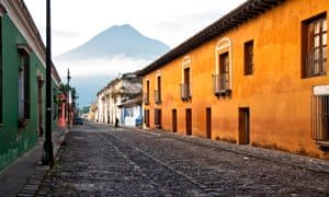 Antigua's colonial architecture makes for a stunning sight amid the volcanic landscape.