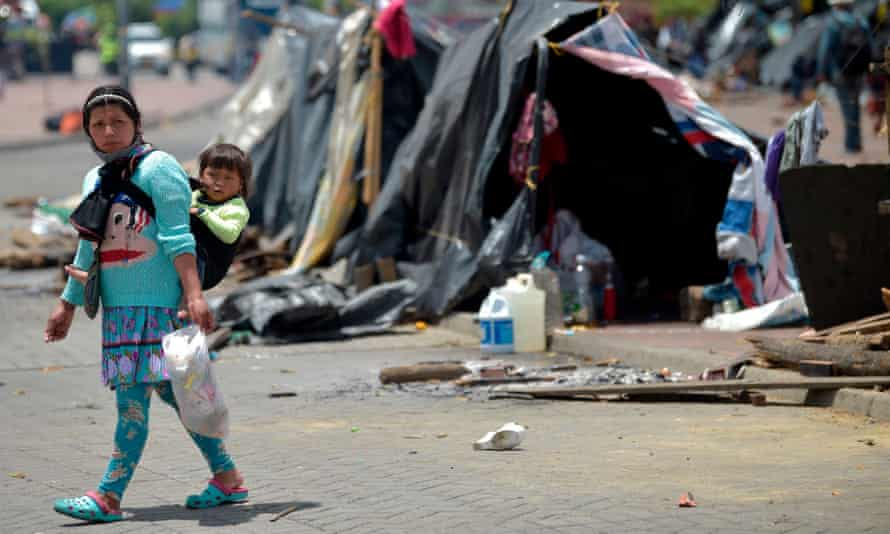 Among those excluded are 5.6 million Colombians internally displaced by six decades of civil war