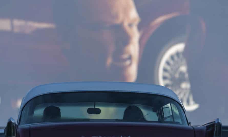 A drive-in cinema in Dresden
