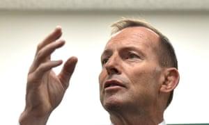 The Australian prime minister, Tony Abbott