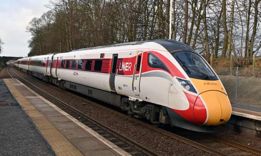 An LNER train passing through Fife