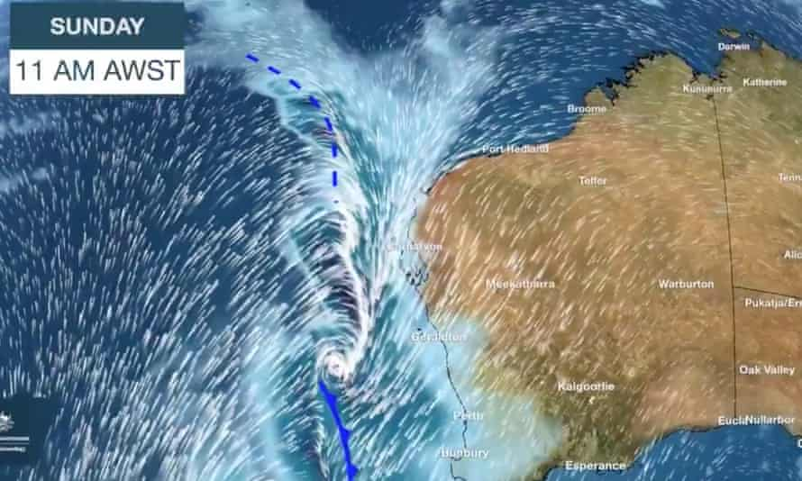Severe weather from the remnants of Tropical Cyclone Mangga is set to batter 3,000km of Western Australia's coast on Sunday and Monday.