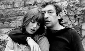 Jane Birkin with Serge Gainsbourg.