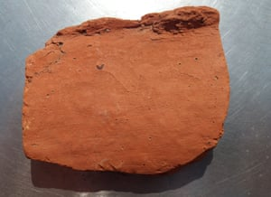 Roman roof tile with human fingerprint, found by a sea kayaker.