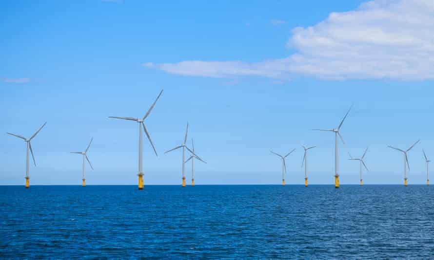 Offshore windfarm off England