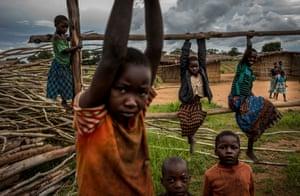 Children play in the village