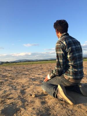 Munir, 15, from Afghanistan.