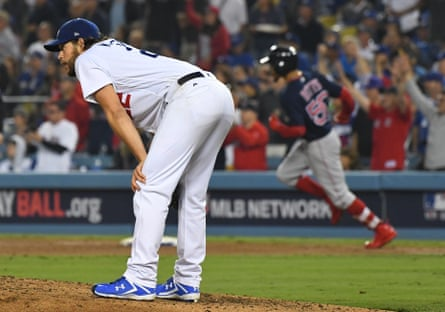 Dodgers pitcher Clayton Kershaw  endured a painful night on the mound