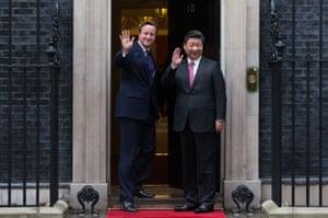 Cameron and Xi at No 10