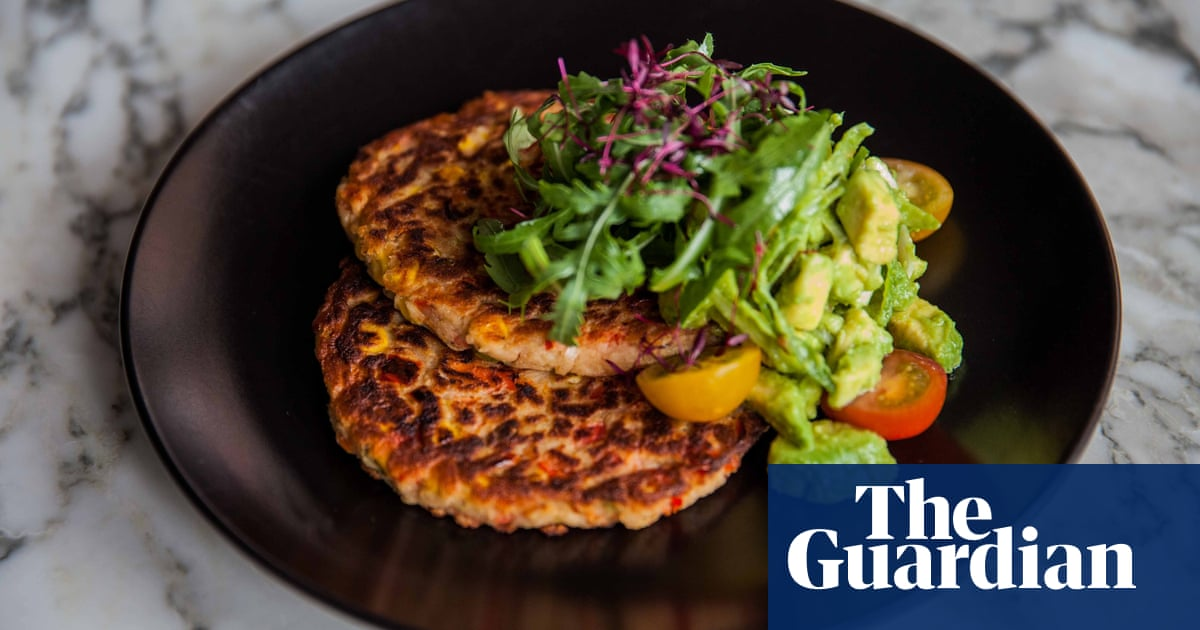 Andrea waterss sweetcorn and red pepper pancakes with guacamole andrea waterss sweetcorn and red pepper pancakes with guacamole food the guardian forumfinder Images