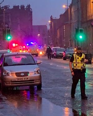 Govan Road, Glasgow blocked by police