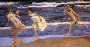 Running Along the Beach, Valencia, 1908 by Joaquín Sorolla.