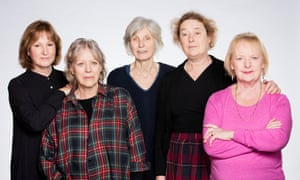The cast of the Royal Court production of Escaped Alone
