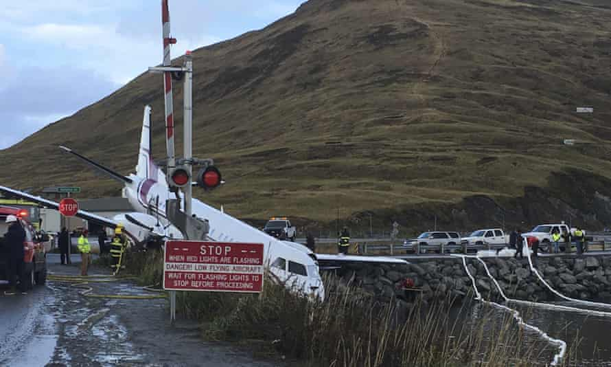 A commuter airplane has crashed near the airport in a small Alaska community on the Bering Sea in Unalaska, Alaska, on 17 October.