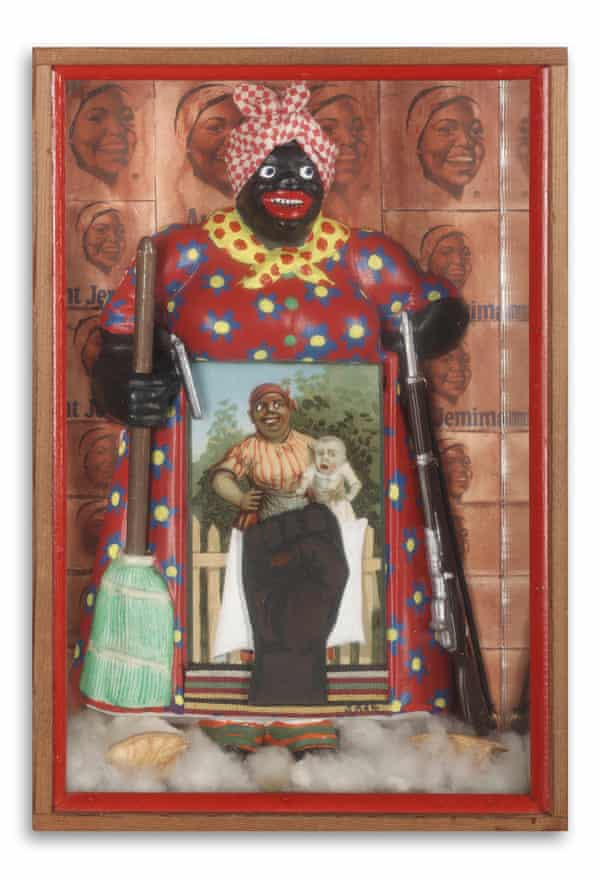 The Liberation of Aunt Jemima, 1972, mixed-media assemblage.
