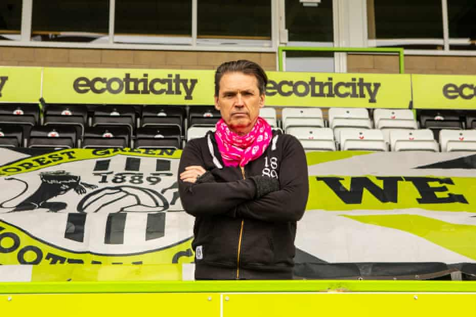 Dale Vince at the Forest Green Rovers ground in Nailsworth, Gloucestershire.