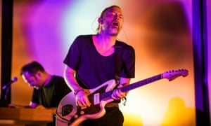 Thom Yorke performing with Radiohead at the Sonar festival in Barcelona, 16 June 2018.