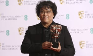 Director Bong Joon-ho collected the best foreign language Bafta for Parasite.