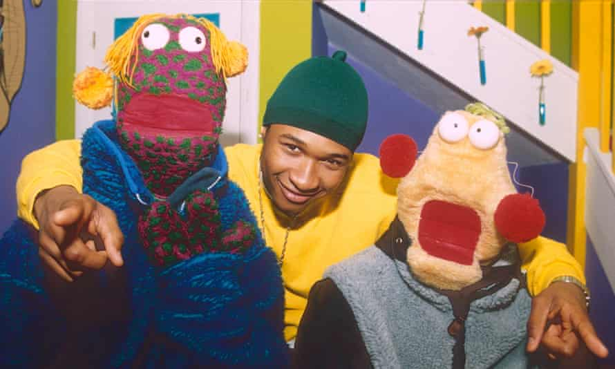 Rapper's delight ... Usher (centre) with Zig and Zag.