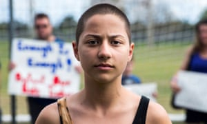Emma González, 18, a senior at Marjory Stoneman Douglas High School, gave an impassioned speech at an anti-gun rally in Fort Lauderdale.