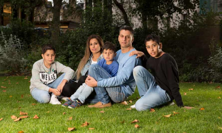 Mohammed Mustapha and his wife Layal and their children Haidar, Hussein and Mahdi
