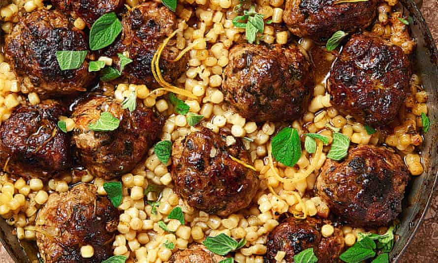 Yotam Ottolenghi's braised veal meatballs with fregola