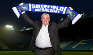 Steve Bruce is introduced as the new manager of Sheffield Wednesday and is seeking a fifth promotion from the Championship with what is his 10th club.