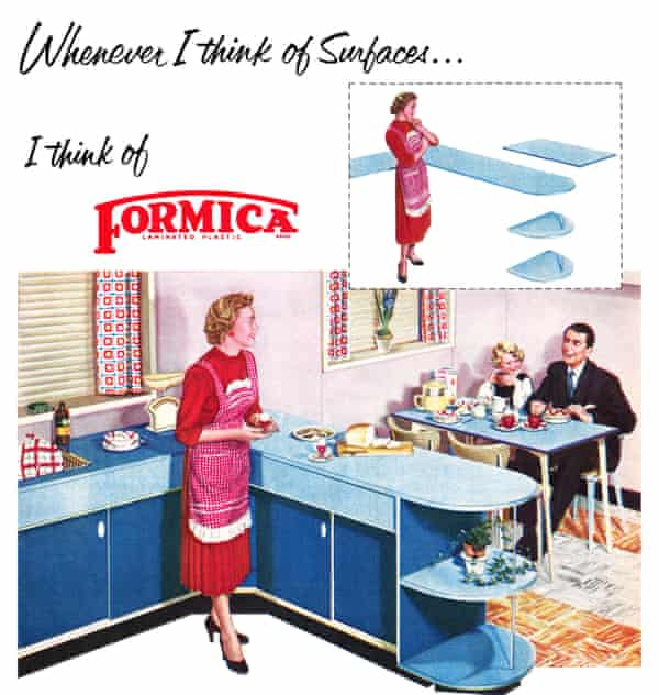 A 1955 advertisement for Formica.