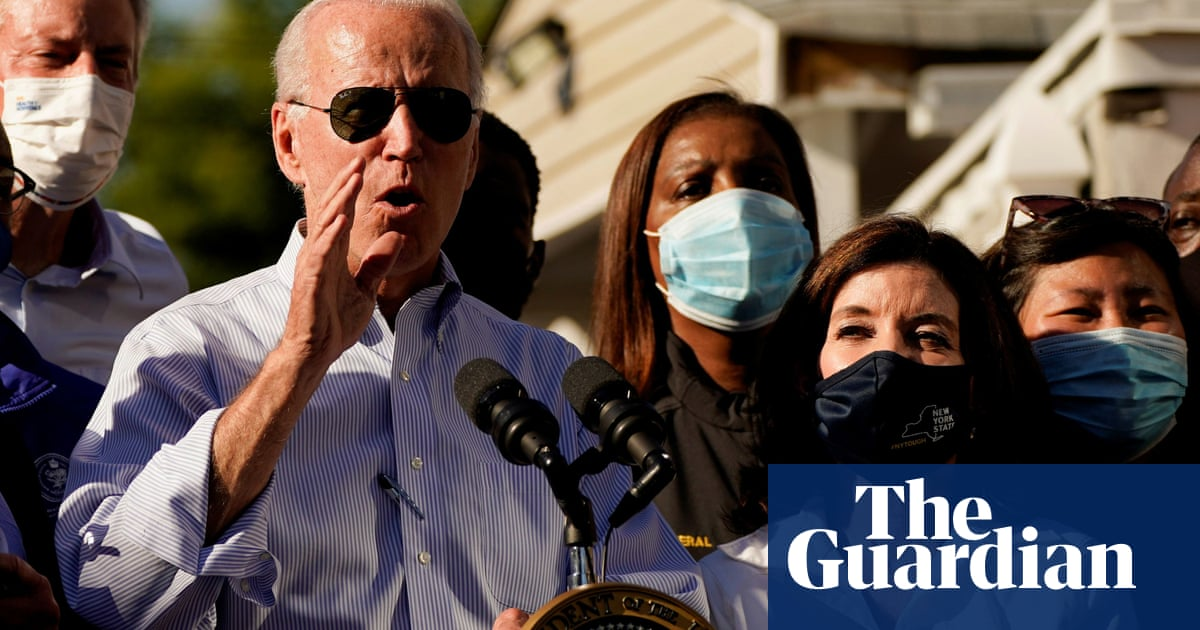 'This is code red': Biden sounds alarm on climate crisis as he tours New York damage – video