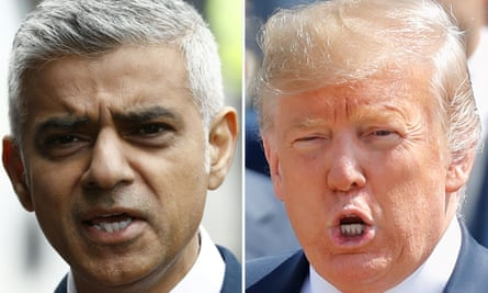 Sadiq Khan, the mayor of London, and President Donald Trump