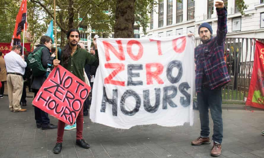 Workers strike in London over zero-hours contracts
