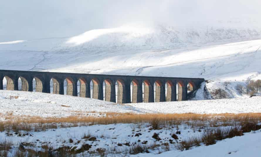 Ribblehead Viaduct at the foot of Whernside