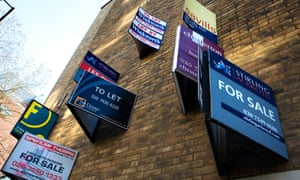 For Sale and To Let signs on a wall