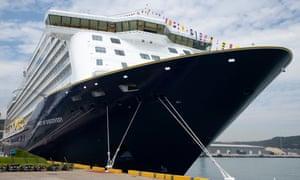 A Saga cruise ship at Dover.